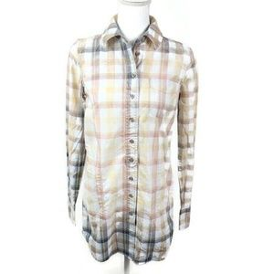Free People Plaid Long Sleeve Button Down Tunic 4